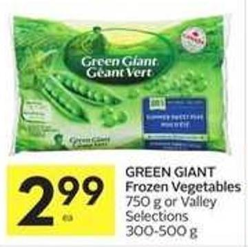 Green Giant Frozen Vegetables
