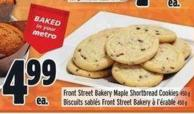 Front Street Bakery Maple Shortbread Cookies 450 g
