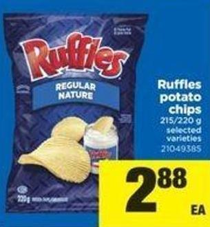 Ruffles Potato Chips - 215/220 g