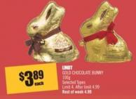 Lindt Gold Chocolate Bunny 100 g