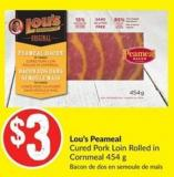 Lou's Peameal Cured Pork Loin Rolled In Cornmeal 454 g