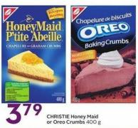 Christie Honey Maid or Oreo Crumbs 400 g