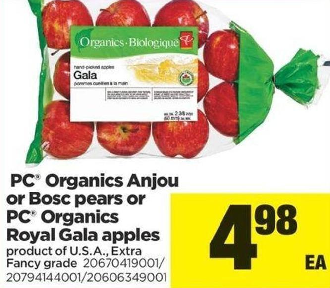 PC Organics Anjou Or Bosc Pears Or PC Organics Royal Gala Apples