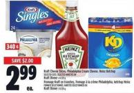 Kraft Cheese Slices - Philadelphia Cream Cheese - Heinz Ketchup Or Kraft Dinner