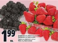 Strawberries 454 g - Product Of U.S.A. - No. 1 Grade Blackberries 170 g - Product Of Mexico