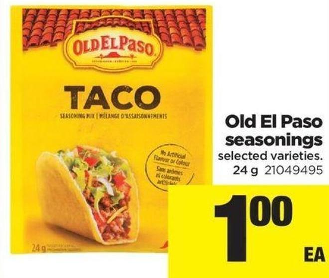 Old El Paso Seasonings - 24 g