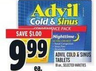 Advil Cold & Sinus Tablets