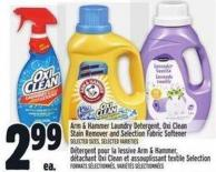 Arm & Hammer Laundry Detergent - Oxi Clean Stain Remover And Selection Fabric Softener