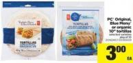PC Original - Blue Menu Or Organic 10in Tortillas - Pkg of 10
