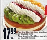 Front Street Bakery Fruit Topped Boston Cakes | Gâteau Boston Front Street Bakery Garni De Fruits