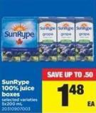 Sunrype 100% Juice Boxes - 5x200 mL