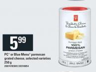 PC Or Blue Menu Parmesan Grated Cheese - 250 g