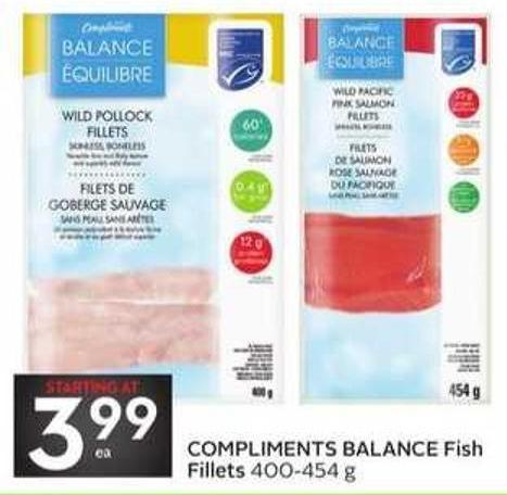 Compliments Balance Fish Fillets
