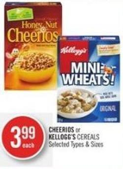 Cheerios or Kellogg's Cereals