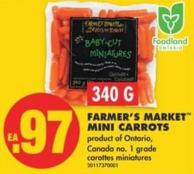 Farmer's Market Mini Carrots - 340 G