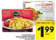 Stouffer's Or Lean Cuisine Entrees