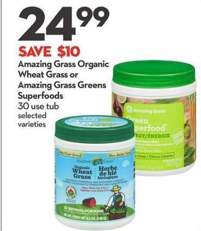 Amazing Grass Organic Wheat Grass or Amazing Grass Greens Superfoods
