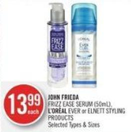 John Frieda Frizz Ease Serum (50ml) - L'oréal Ever or Elnett Styling Products