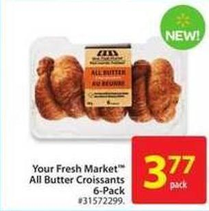 Your Fresh Market All Butter Croissant 6-pack