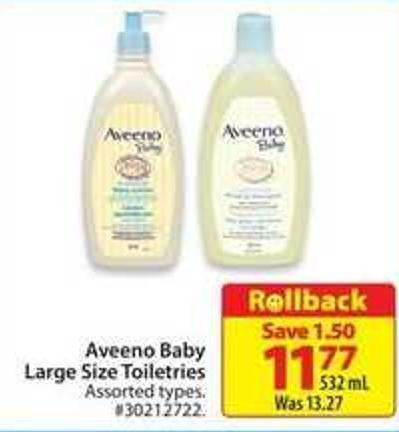 Aveeno Baby Large Size Toiletries