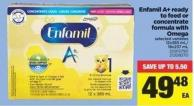 Enfamil A+ Ready To Feed Or Concentrate Formula With Omega.12x385 Ml/ 18x237 mL