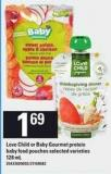Love Child Or Baby Gourmet Protein Baby Food Pouches - 128 mL