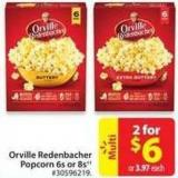 Orville Redenbacher Popcorn 6s and 8s