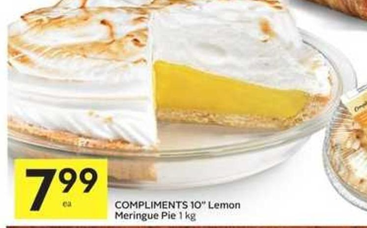 Compliments 10'' Lemon Meringue Pie