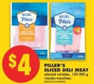 Piller's Sliced Deli Meat - 150-200 g