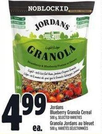 Jordans Blueberry Granola Cereal