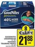 Goodnites Underwear Or Huggies Training Pants
