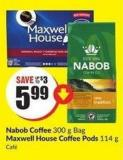 Nabob Coffee 300 g Bag Maxwell House Coffee Pods 114 g