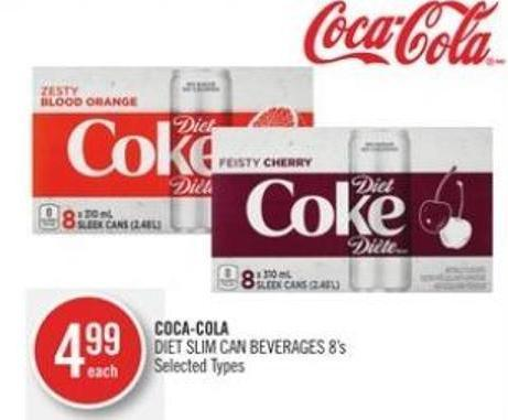 Coca-cola Diet Slim Can Beverages