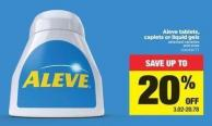 Aleve Tablets - Caplets Or Liquid Gels