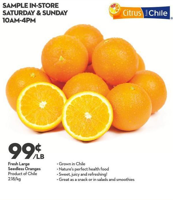 Fresh Large Seedless Oranges