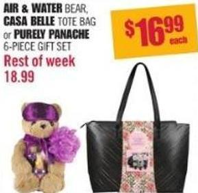 Air & Water Bear - Casa Belle Tote Bag or Purely Panache 6-piece Gift Set