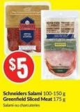 Schneiders Salami 100-150 g Greenfield Sliced Meat 175 g