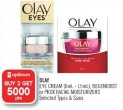 Olay Eye Cream (6ml - 15ml) - Regenerist or Prox Facial Moisturizers