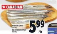 Fresh Sea Smelts 1.33/100 g