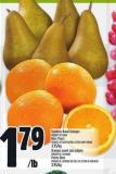 Seedless Navel Oranges Product Of Spain Bosc Pears Product Of South Africa - Extra Fancy Grade 3.95/kg