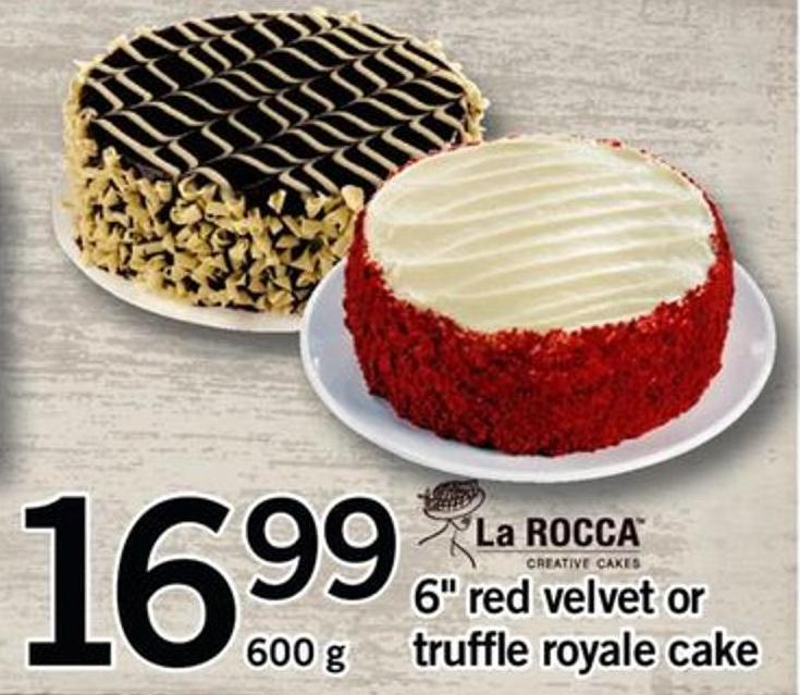 6in Red Velvet Or Truffle Royale Cake - 600 G