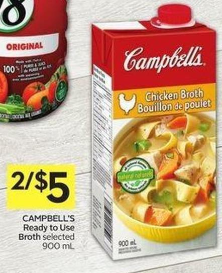 Campbell's Ready To Use Broth Selected 900 mL