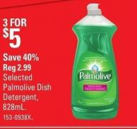 Selected Palmolive Dish Detergent - 828ml