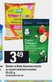 Gerber Or Baby Gourmet Snacks Or Cereal - 23-227 g