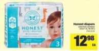 Honest Diapers - Sizes 1-6 - 18-35's