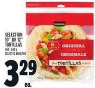 Selection 10in Or 12in Tortillas 450 - 630 g