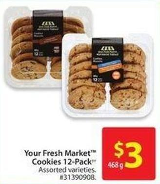 Your Fresh Market Cookies 12-pack