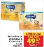 Enfamil A+ or Enfamil A+ 2 Concentrate Cases