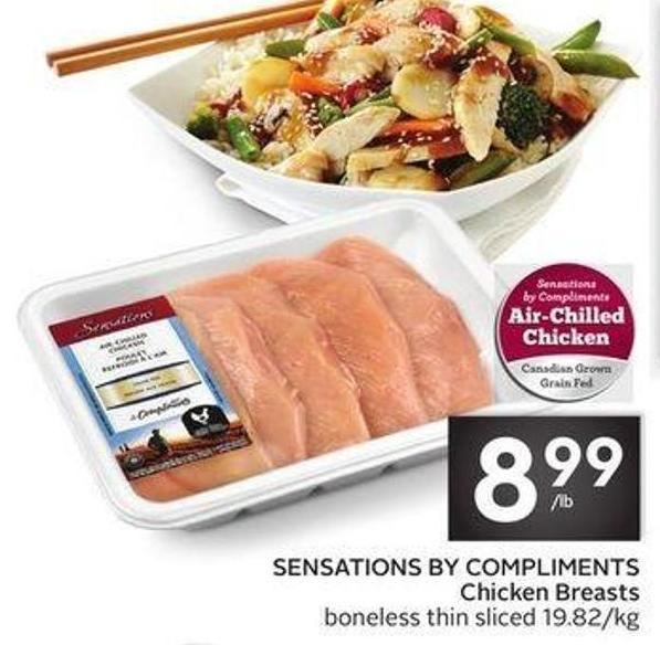 Sensations By Compliments Chicken Breasts