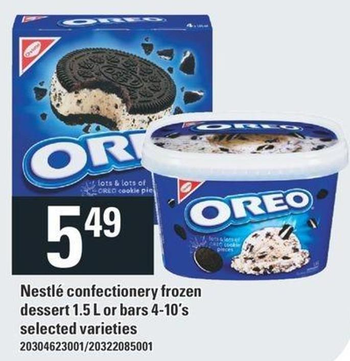 Nestlé Confectionery Frozen Dessert 1.5 L Or Bars 4-10's